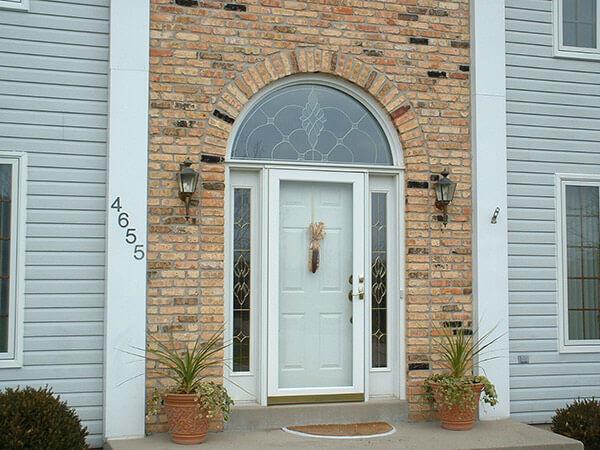 White Entry Door Design